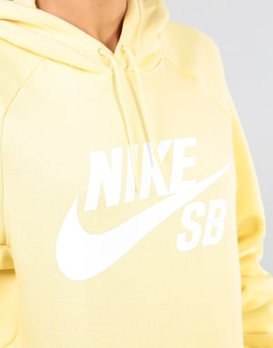 Nike SB Womens Icon Oversized Hoodie - Lemon Wash/White