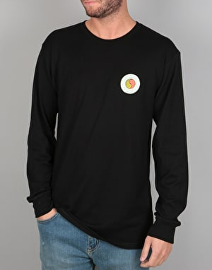 Stüssy Hippie Circle L/S T-Shirt - Black