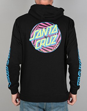 Santa Cruz Party Dot Pullover Hoodie - Black