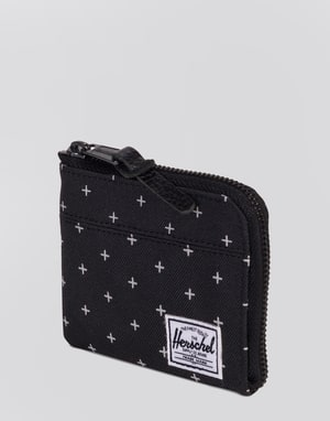 Herschel Supply Co, Johhny Wallet - Black Gridlock