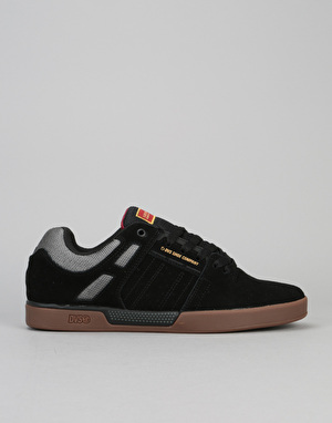 DVS Getz+ Skate Shoes - Black/Gum Suede