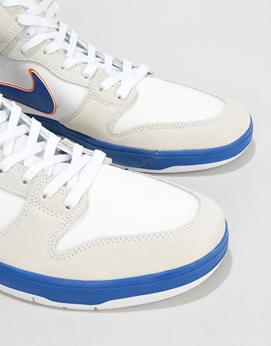 Nike SB Medicom Dunk Hi Elite QS Skate Shoes - White/College Blue