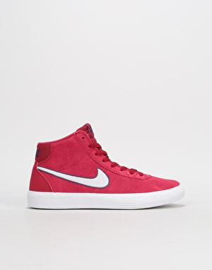 Nike SB Bruin Hi Womens Trainers - Red Crush/Vast Grey/White