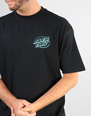 Santa Cruz Oval Dot T-Shirt - Black