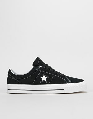 Converse One Star Pro Ox Skate Shoes - Black/White
