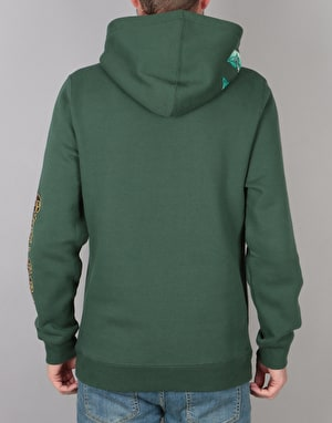 Stüssy Dragon Applique Pullover Hoodie - Dark Forest