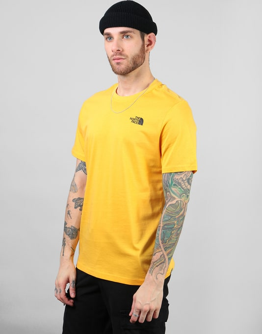 The North Face S/S Red Box T-Shirt - TNF Yellow