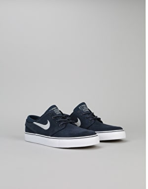 Nike SB Stefan Janoski Boys Skate Shoes - Obsidian/Wolf Grey/White
