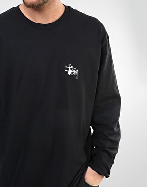 Stüssy Pin Up L/S T-Shirt - Black