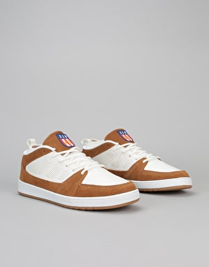 éS SLB Skate Shoes - White/Tan