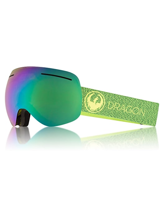 Dragon X1 2018 Snowboard Goggles - Mill/LUMALENS® Green Ion