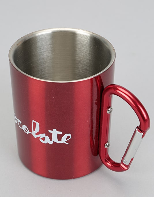 Chocolate Carabiner 10oz Cup - Red