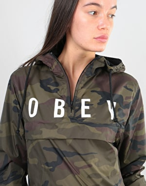 Obey Womens Anyway Anorak Coaches Jacket - Camo