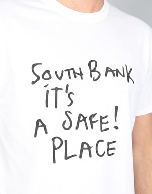 Long Live Southbank Gonz Safe Place T-Shirt - White/Black