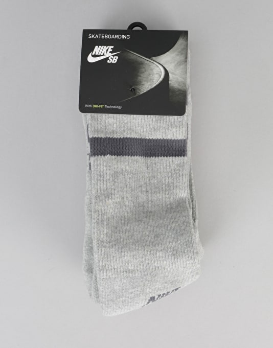 Nike SB Crew Socks 3 Pack - Dark Grey Heather/Dark Grey