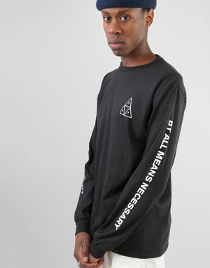 HUF Triple Triangle L/S T-Shirt - Black