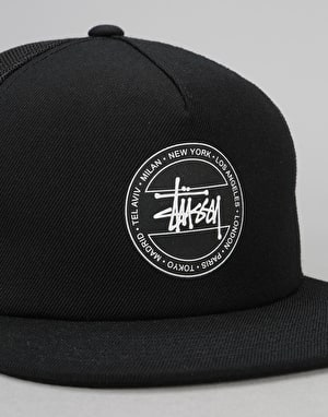 Stüssy Dot Trucker Cap - Black