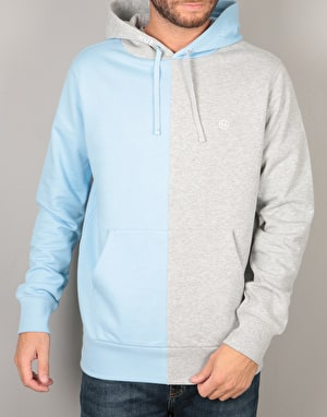 HUF Henry Pullover Hoodie - Heather Grey/Baby Blue