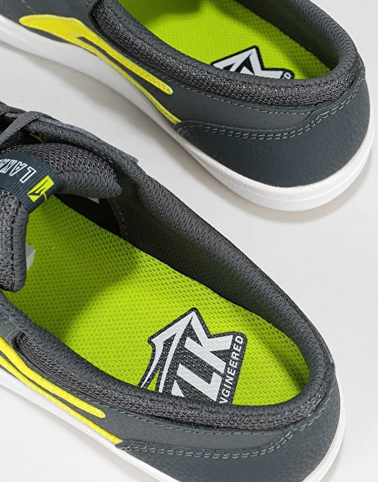Lakai Griffin XLK Skate Shoes - Charcoal/Lime Nubuck