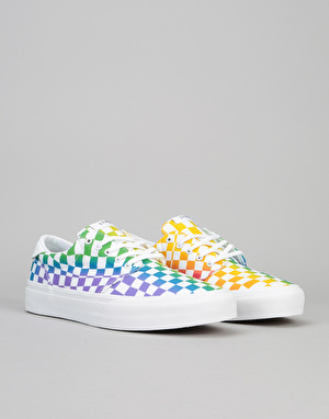 Straye Fairfax Skate Shoes - Rainbow Checker