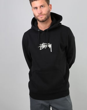 Stüssy Stock Applique Pullover Hoodie - Black