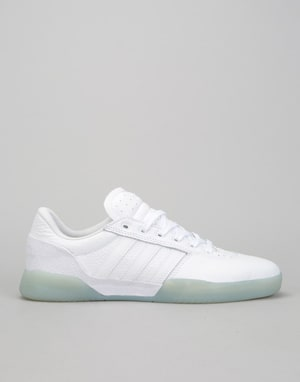 Adidas City Cup Skate Shoes - White/White/Gold Metallic