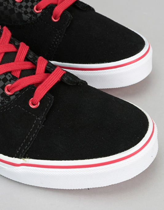 Vans Kress Boys Skate Shoes - Black/Red/White