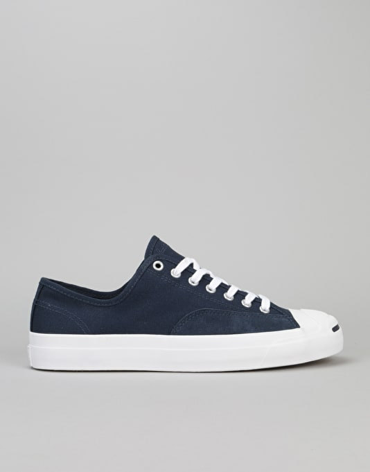 Converse Jack Purcell Pro Ox Skate Shoes - Obsidian/Obsidian/White