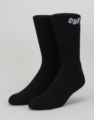 Obey Jumbled Socks – Black