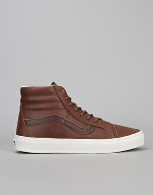Vans Sk8-Hi Reissue Skate Shoes - (Leather) Dachshund/Potting Soil
