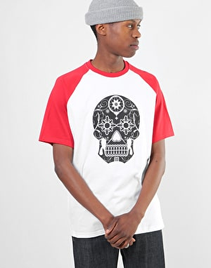 Original Calavera T-Shirt - White/Red