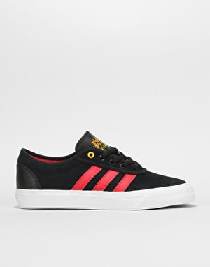 Adidas Adi-Ease Skate Shoes - Core Black/Scarlet/White