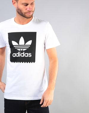 Adidas Solid Blackbird T-Shirt - White/Black