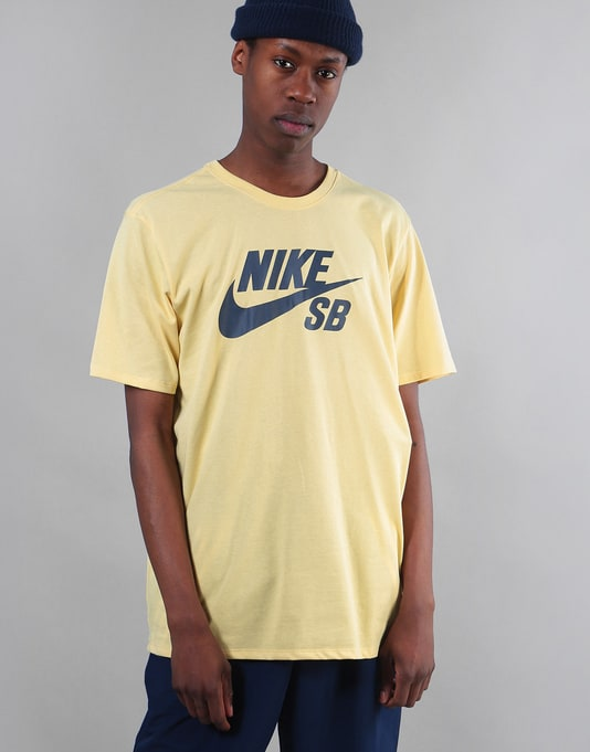 Nike SB Logo T-Shirt - Lemon Wash/Thunder Blue