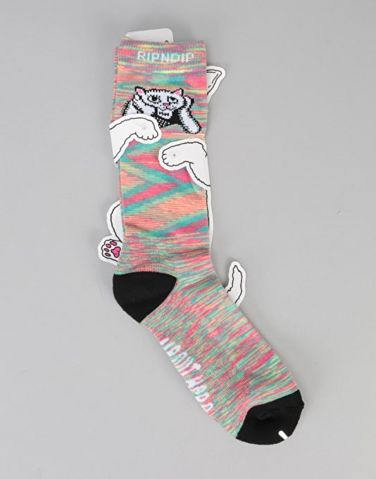 RIPNDIP Stoner Socks - Trippy Pattern