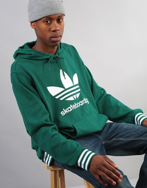 Adidas Clima 3.0 Uniform Pullover Hoodie - Collegiate Green/White