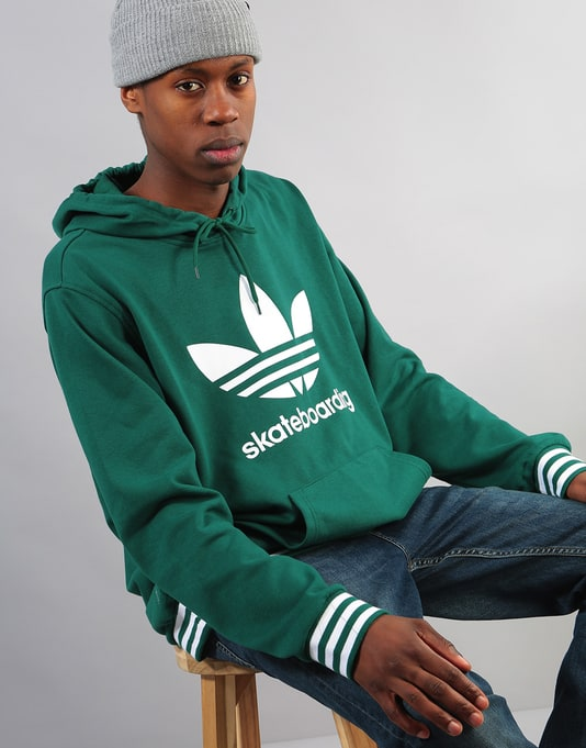 Adidas Clima 3.0 Uniform Pullover Hoodie - Collegiate Green White ... 447e591afb01