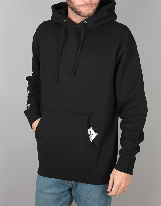 RIPNDIP R1 Exclusive Peeking Nermal Pullover Hoodie - Black