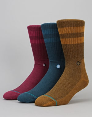 Stance Solid 3 Pack Socks - Multi