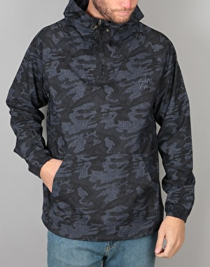 The Quiet Life Camo Windy Pullover Jacket - Navy