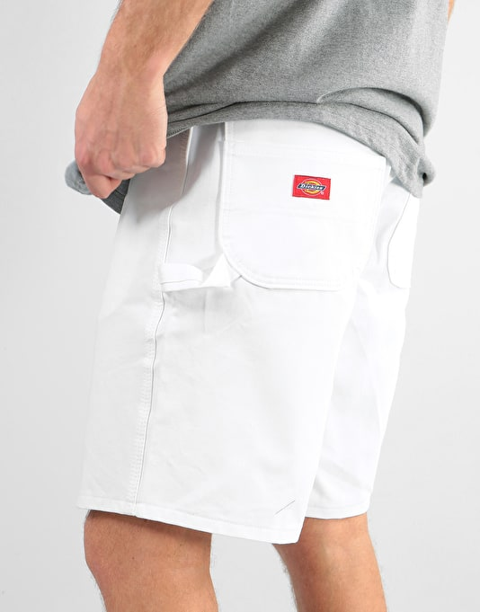 "Dickies 10"" Painters Utility Shorts - White"