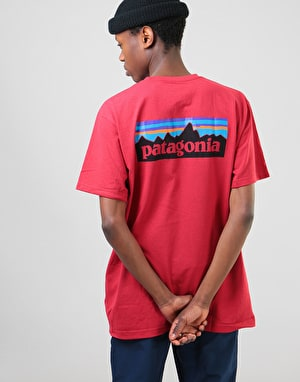 Patagonia P-6 Logo Pocket T-Shirt - Static Red