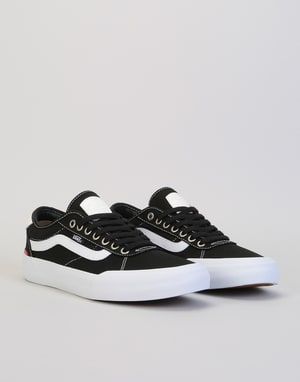 Vans Chima Pro II Skate Shoes - (Canvas) Black/White