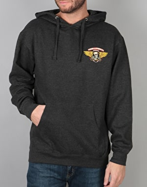 Powell Peralta Winged Ripper Pullover Hoodie - Charcoal