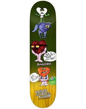 Krooked Sandoval The Heart Skateboard Deck - 8.5
