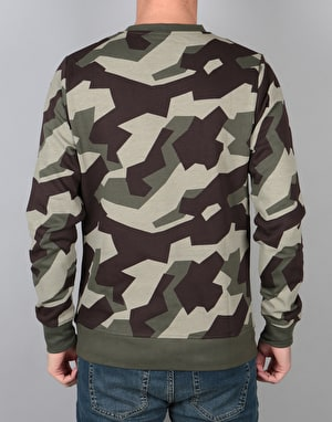 WeSC Swedish Camo Crewneck - Green Camo