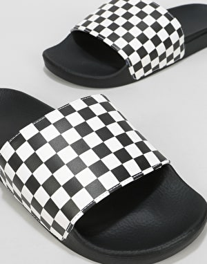 Vans Slide-Ons - (Checkerboard) White