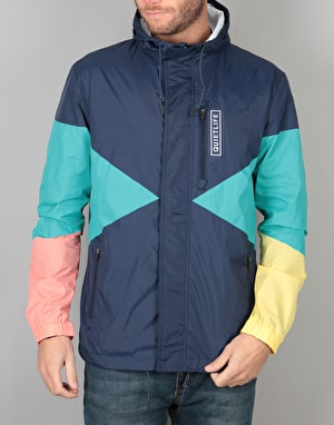 The Quiet Life Pacific Windbreaker - Navy/Coral/Yellow