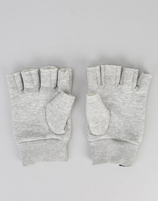 Brixton Robbie Fingerless Gloves - Heather Grey