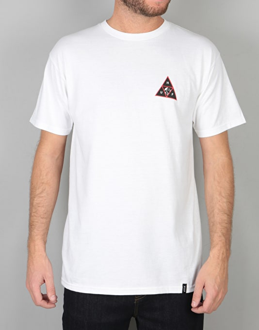 HUF Rose Calvaria Triple Triangle T-Shirt - White